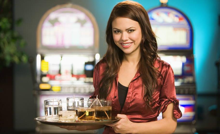 tip a casino waitress